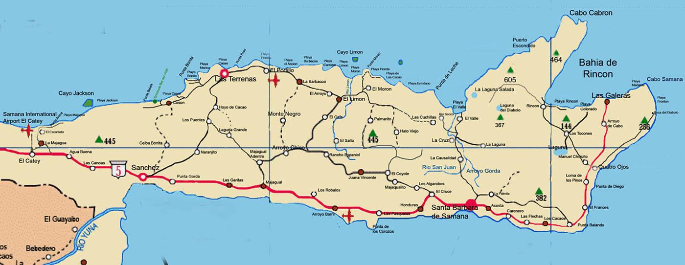 Bacardi Insel Dom Rep Karte.Samana Online Infos Halbinsel Samana Dominikanische Republik